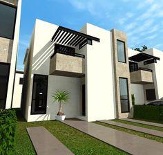 Fachadas de casas modernas linda fachada de casa moderna for Casa minimalista guadalajara