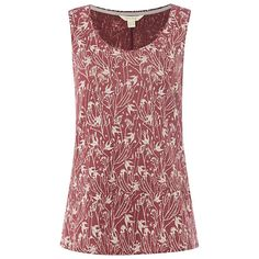 BuyWhite Stuff Swallow Linen Jersey Vest, Plum Pink, 6 Online at johnlewis.com