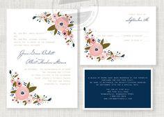 Molly printable wedding invitation suite by buddyandbean on Etsy, $35.00