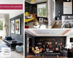 Paredes escuras escurecem os ambientes? 5 regras de #decoração para quebrar • MeuEstiloDecor