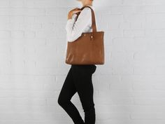 Conkca London - Kim Handcrafted Dark Tan Leather Shoulder Bag #MyLuxury #handbagenvy