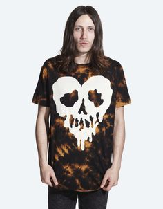 Drop Dead - Skull Fucked Black Acid Wash T-shirt - £30