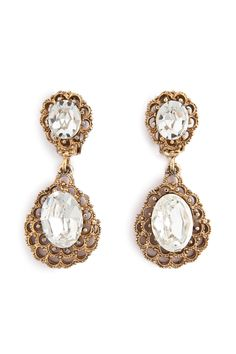 Ciner Antique Cascading Crystal Earring- to go with the glamorous dress!