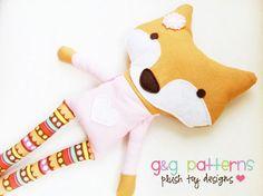 Fox Sewing Pattern Fox Doll PDF Softie Toy Pattern. $10.00, via Etsy.