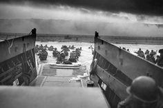 Omaha Beach nel 1944 durante lo Sbarco in Normandia