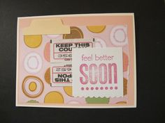 Get well hand-made card with a tab. 2013.