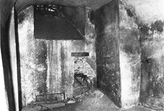 """The crypt in church of St. Cyril and Methodius with hole in the wall. Photo from magazine """"After the battle"""", number 24, 1979."""