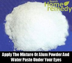 Alum Powder, ?? also try home remedy for skin tightening/lifting - the best is 1 egg white mixed with 1/4 teaspoon powdered alum. Alum is available where spices are sold