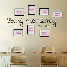 Samolepka na stěnu Wallvinil Sbírka momentů s fotorámečky Diy, Home Decor, Decoration Home, Bricolage, Room Decor, Do It Yourself, Home Interior Design, Homemade, Diys