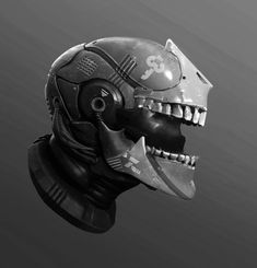 Helmet Sketch 01, Tyler Smith on ArtStation at https://www.artstation.com/artwork/8ZywG