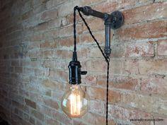 Applique industrielle - pendentif Edison - suspension lampe - ampoule Edison - applique murale
