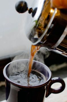 There's nothing like french press coffee on a cold day.