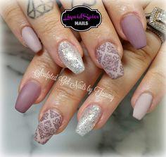 Simply elegant stamping nail art,  Nail Innovationz gel nail products