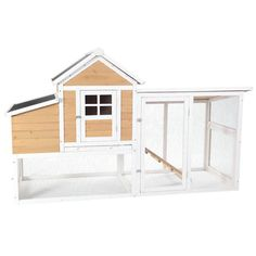 Features:  -Hand built from sustainable harvested, naturally weather and pest resistant fir.  -Sized to comfortably house 4 hens.  -Best-in-class mesh-enclosed run area features chicken ramp for acces