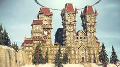 Some place falls into oblivion . Minecraft Palace, Minecraft City Buildings, Minecraft Medieval, Minecraft Castle, Minecraft Architecture, Minecraft Stuff, Minecraft Creations, Minecraft Designs, Minecraft Projects
