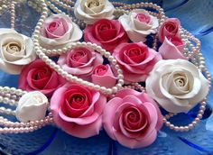 polymer clay roses. These are so amazing...I make rose tinted blobs..these are gorgeous!