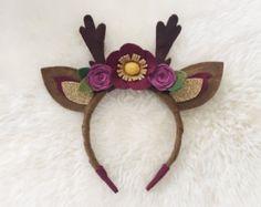 Fox Ears felt flower crown // woodland flower от BakerBlossoms