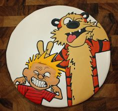 Calvin and Hobbes. Is this hand-piped?? That is way too good.