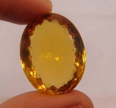 44 Cts. Treated Faceted Oval Shape Citrine Quartz Cut Cabochon Gemstone(ND557 #NagmaGems