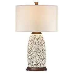 FREE SHIPPING! Shop Wayfair for Pacific Coast Lighting PCL Seaspray 30.44 H Table Lamp with Drum Shade - Great Deals on all Decor products with the best selection to choose from!