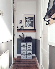 Glas in lood kamer en suite deuren hal met tegels lambrisering jaren 39 30 huis kamer en for Schilderen voor gang d