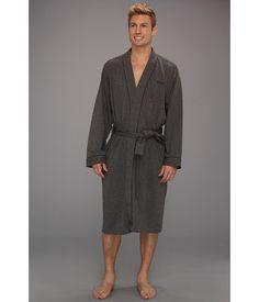BOSS Hugo Boss - Innovation 1 Cotton Kimono Robe (Open Grey) - Apparel 10cd8ab21