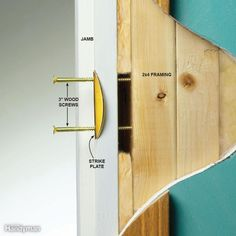 Reinforce Your Entry Door Strike Plate Home Security Tips, Safety And Security, Home Security Systems, Security Camera, House Security, Sliding Patio Doors, Entry Doors, Home Safety, Safety Tips