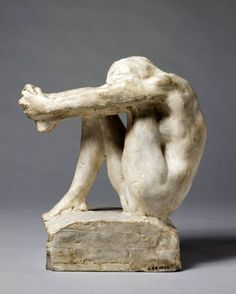 """Rodin's """"Despair"""" - first saw this at I. M. Pei's East Wing, National Gallery, kept circling back to see it again and again, it clearly talked to me at the time, happily that was a long time ago..."""
