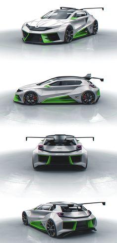 SKODA Vision GT on Behance