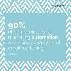 90% of companies using marketing automation are taking advantage of email marketing. #ifactory #ifactorydigital  #emailmarketing #digitalmarketing #digital #edm #marketing #statistics  #email #emails