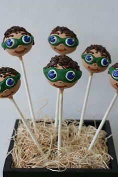 """Super Why"" Character Cake Pops by Sweet Lauren Cakes, via Flickr"