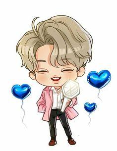 Kai #Kim jongin #exo Exo Cartoon, Cute Cartoon Drawings, Exo Kai, Kai Arts, Exo Fan Art, Kim Jong In, Cute Chibi, Kpop Fanart, Anime Love