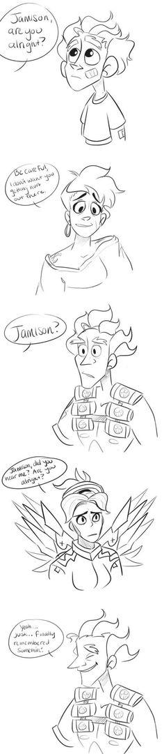 overwatch junkrat mercy comic