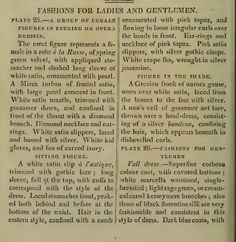"""Fashions for Ladies and Gentlemen."" April 1810."