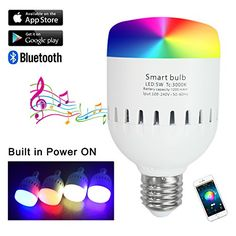 Santaro Bluetooth Smart LED Speaker Bulb  Unique Carryable Colored Light Bulb Speaker with Builtin Battery 7W Led Fit All E27 Lamps and FixturesIOS and Android Controlled
