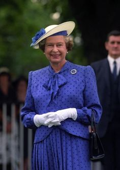 Her Majesty during Ascot Racecourse, 1990