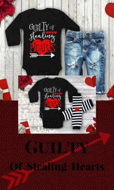 28f98eee Baby Boy Valentines Outfit Boy's Valentine's Day Shirt Guilty of Stealing  Hearts Shirt Toddler Boy Valentine