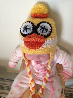 Crochet animal hat  Quacky Easter  Duck Hat Boys or by lisaswick, $20.00