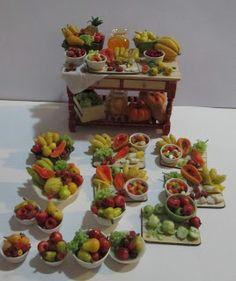 Miniaturas Brasileiras- Brazilian Miniatures: Mesa de frutas