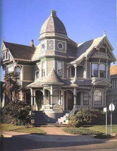 American Victorian House Architecture Painting Design Style Queen Anne  Gothic