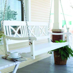 18 Amazing Rustic Porch Swing Design Ideas - Porch swing are constructed from all sorts of different woods, plastics, resin plastic, even certain metals like aluminum. Porch swings can add a sort of casual touch and feel to a person's home. Porch Swings For Sale, Outdoor Patio Swing, White Porch, Wicker Headboard, Wicker Couch, Wicker Bedroom, Wicker Shelf, Wicker Table, Wicker Baskets
