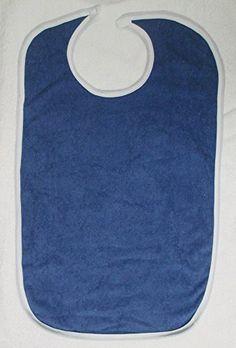 Terry Cloth Adult Washable Bib with Velcro Closure, Denim... https://www.amazon.com/dp/B00SVLJTGQ/ref=cm_sw_r_pi_dp_x_L5cYzbJYJZA7C