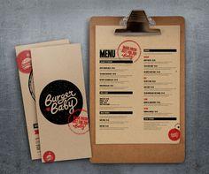 Burger Baby identity and menu.