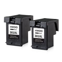 2pcs 301XL Ink Cartridge Black Replacement for hp 301 xl  CH563EE for  Deskjet 1000 1050 2000 2050 2510 3000 3050 3052 3054