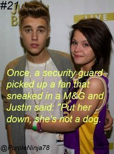 Another of the many reasons I LOVE Justin