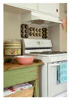 cucina-shabby-verde