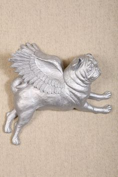 Pugs Might Fly Silver Flying Pugs Set at Urban Outfitters