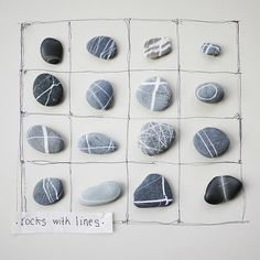 """Rock Sorting- """"Rocks with lines""""- photo 1"""