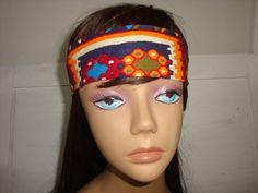 Dolly bow Aztec headband tie pinup hair bow by orangemonkeydreams