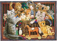 Cats in the Toy Box by Leslie Anne Ivory. ivorycats.co.uk